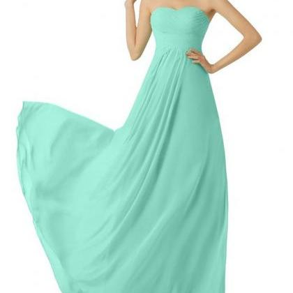 Mint Green Bridesmaid Dress,Floor L..