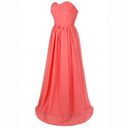 New Arrival Coral Long Chiffon Swee..
