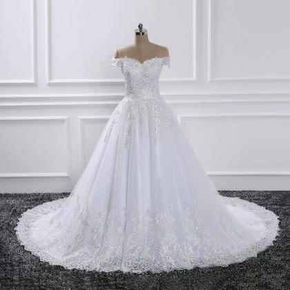 2019 Wedding Dresses Boat Neck Off ..