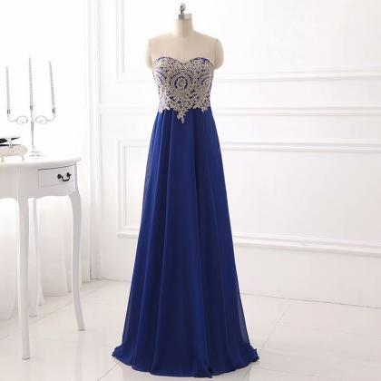 Charming Chiffon Prom Dress,Lace Ap..