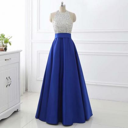 Gorgeous Prom Dress,Floor Length ,Satin Evening Dress,Beading Prom Dress,Sexy Party Dress,Custom Made Evening Dress