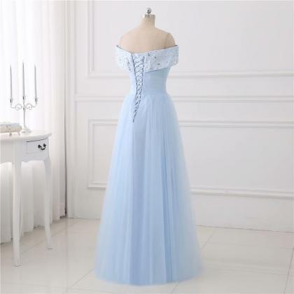 Light Blue Evening Dresses 2019 V N..