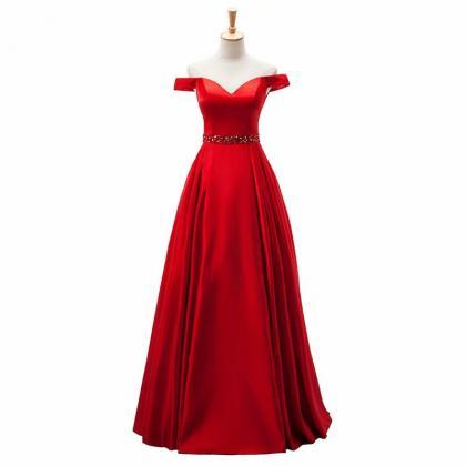 2019 Red Evening Dress Pageant Dres..