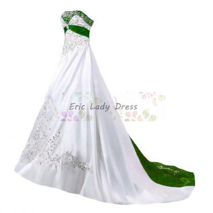 2019 Wedding Dresses,White And Gree..
