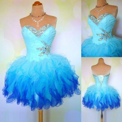 short party dress , organza beaded ..