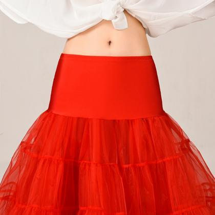 Red New Short A Line Petticoat Crin..