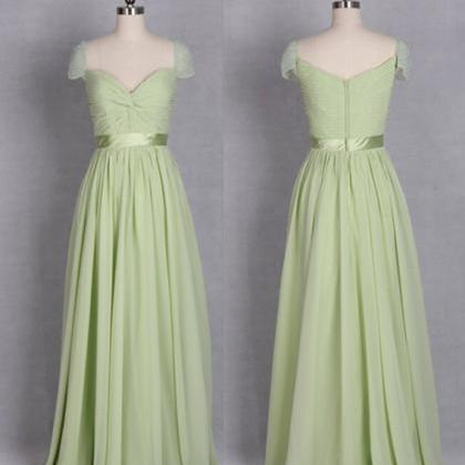 Sexy Sage Green Chiffon Bridesmaid ..