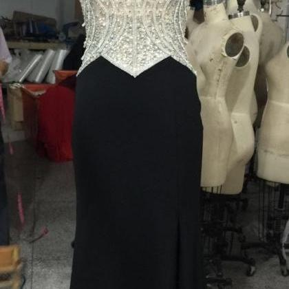 Long Black Prom Dresses With Keyhol..