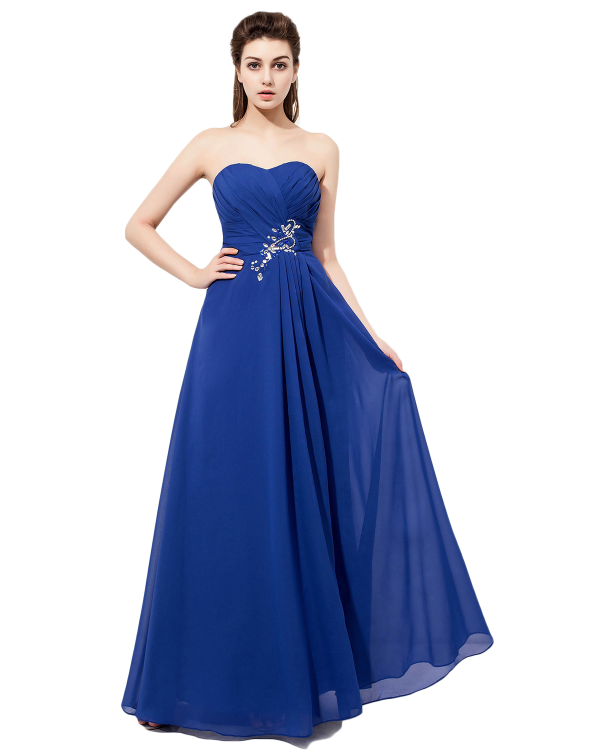 Strapless Bridesmaid Dresses,Royal Blue
