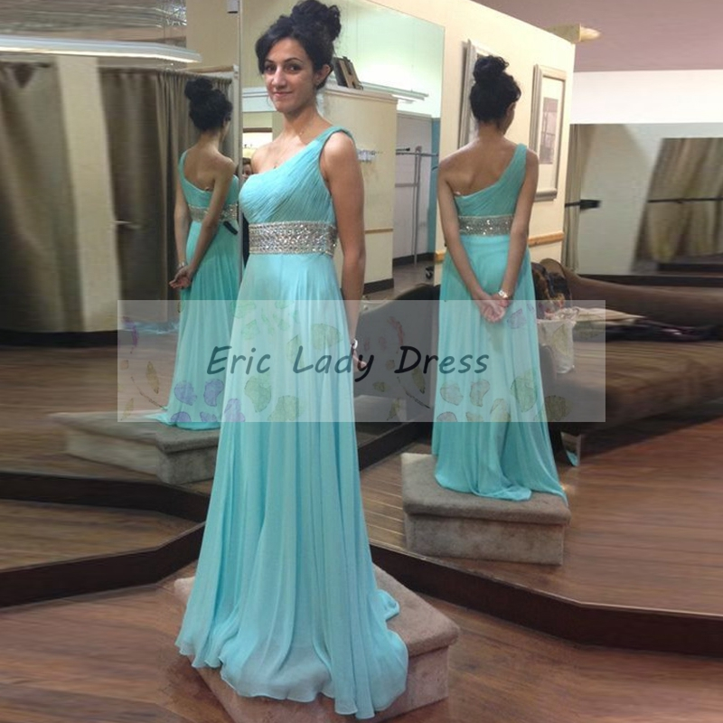 8bb3a50f1b 2019 long sexy blue prom dresses, one shoulder chiffon prom dresses,sexy  blue beaded evening dresses , formal prom dresses,dresses party evening, formal ...