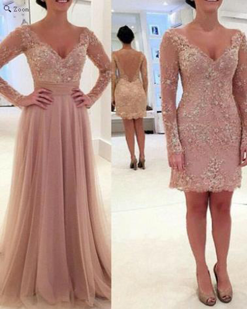 2016 Nude Color Prom Dress,Long Elegant Tulle Bridesmaid Dresses ...