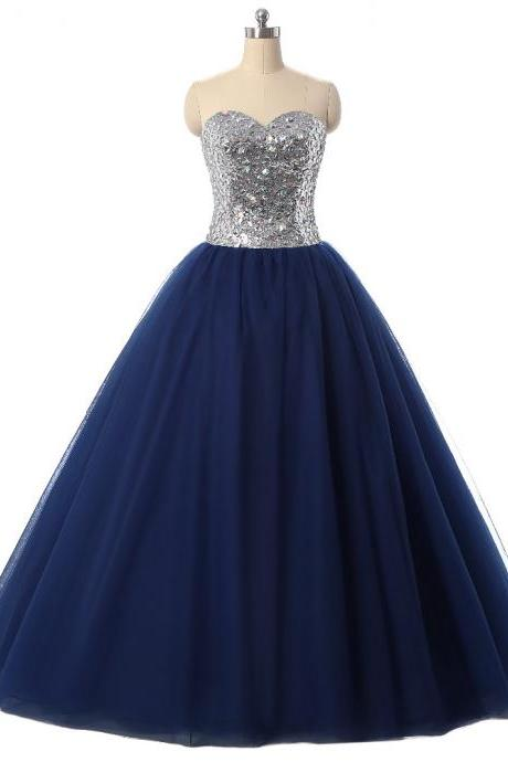 Sexy Navy Blue Quinceanera Dresses Ball Gown For 15 Years Prom Party Dress