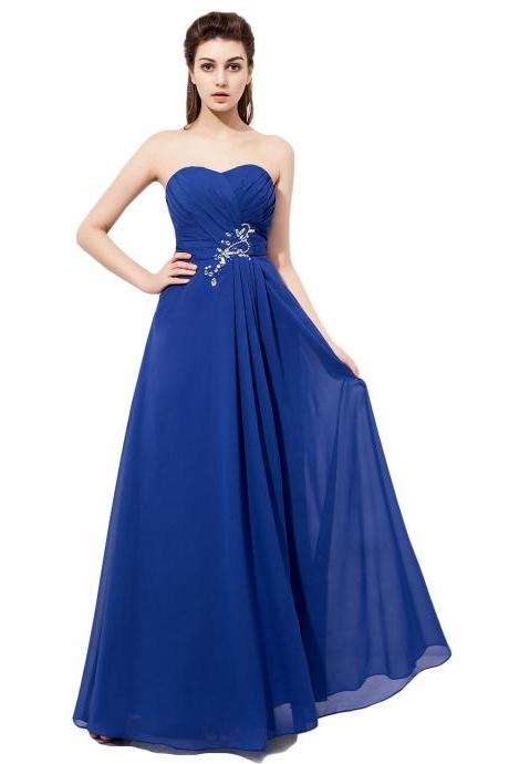 Strapless Bridesmaid Dresses,Royal Blue Bridesmaid Dress,sweetheart bridesmaid dress,Custom bridesmaid dress, Wedding Party Dresses,Long Bridesmaid Dress,Bridesmaid Dresses,Bridal Gowns