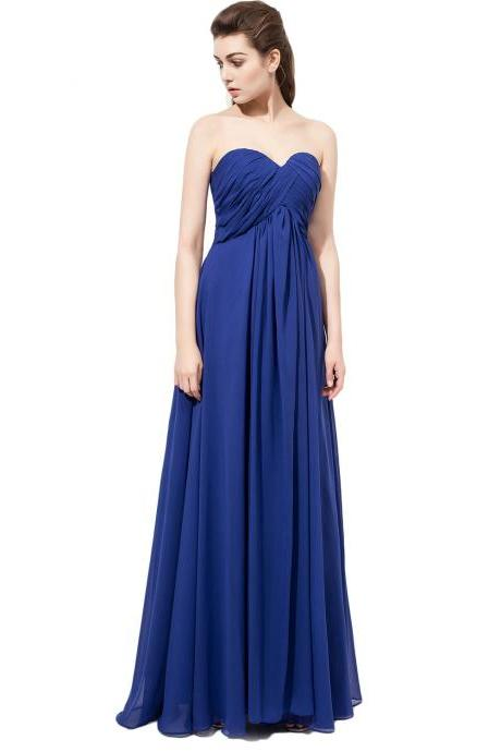 Simple Bridesmaid Dresses,Royal Blue Bridesmaid Dress,chiffon bridesmaid dress,Custom bridesmaid dress, Wedding Party Dresses,Long Bridesmaid Dress,Bridesmaid Dresses,Bridal Gowns