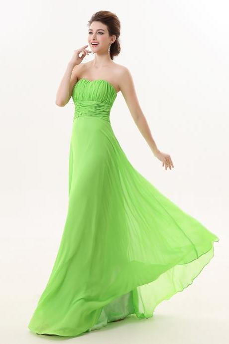 Simple Long Green Bridesmaid Dress,Floor Length Green Bridesmaid Dresses,Elegant Long Cheap Simple Prom Dresses Party Evening Gown