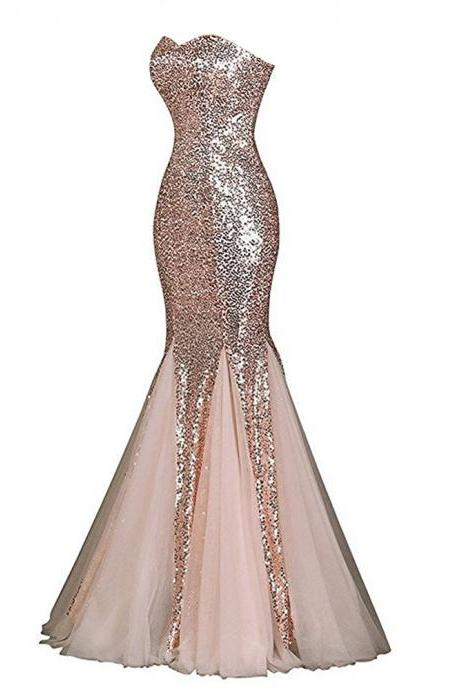 Charming Mermaid Evening Dresses Sweetheart Long Elegant Prom Dress Robe De Soiree Formal Gowns