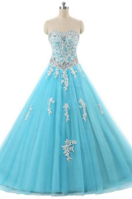 Prom Dress,Light Blue Prom Dress,Ball Gown Prom Dresses,Long Elegant Prom Dress,Tulle Prom Dresses,2017 Prom Dresses,Prom Dresses,Sexy Evening Dresses