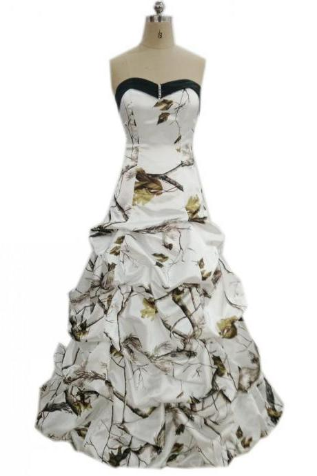 Wedding Dresses,Camo Wedding Dresses,Bridal Dresses,Wedding Dress,2018 Wedding Dresses,Strapless Wedding Dress, Vintage Wedding Dresses,Wedding Gowns,Bridal Gown