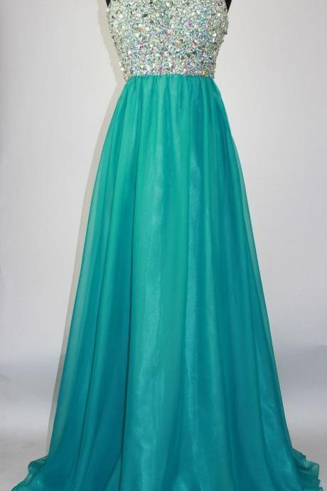 Long Teal A-Line Beaded Prom Dresses Featuring Beaded Sweetheart Neck,Long Elegant Prom Dresses