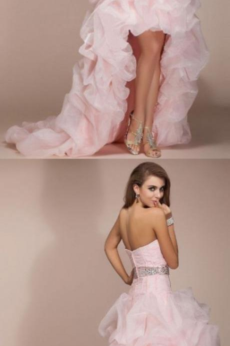 formal red carpet dresses,Prom Dress,Pink Prom Dresses, High Low Prom Dresses,Long Elegant Prom Dress,Organza Prom Dresses,2018 Prom Dresses,Prom Dresses,Sexy Evening Dresses