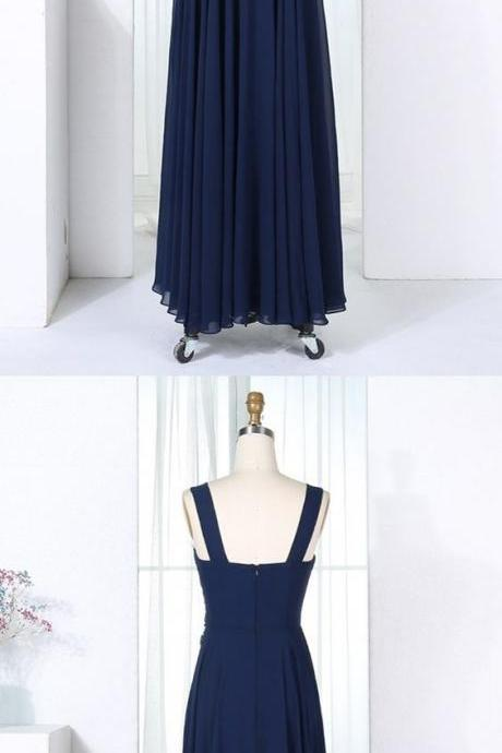 Navy Blue Long Prom Dresses,Lace Applique Prom Gowns,Dark Blue Evening Dresses, A-Line Evening Gowns, Cocktail Dresses Custom