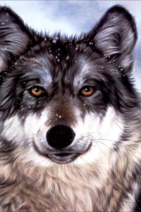 diamond painting wolf rhinestone Embroidery Cross Stitch home bedroom decoration decorative painting