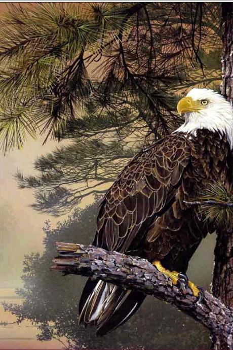 diy diamond painting Bald Eagle rhinestone Embroidery Cross Stitch home bedroom decoration decorative painting