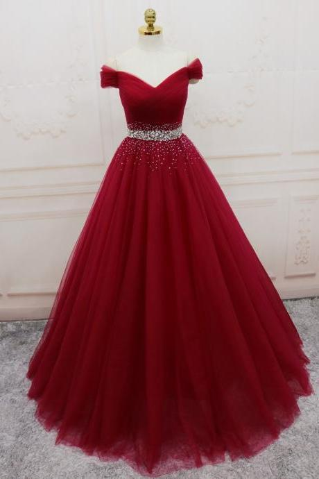 Burgundy Quinceanera Dress 2019 Cap Sleeve Ball Gowns Vestidos De 15 Debutante Gowns Prom Dresses Evening Gowns