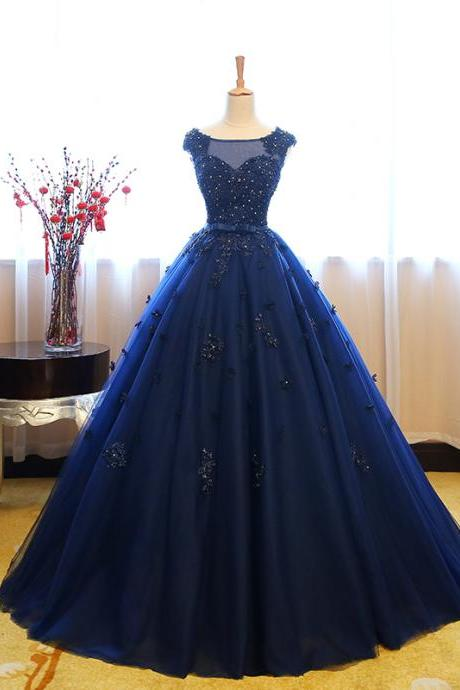 2019 New Navy Blue Prom Dresses, Quinceanera Dresses Ball Gown Vestidos De 15 Debutante Gowns Sweet 16 Dresses