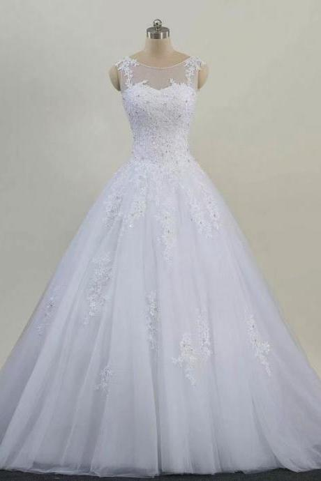 New Arrival Wedding Dress,Tulle Wedding Dress, 2019 Wedding Dresses, Cheap Wedding Dress,Lace Applique Wedding Dress,Ball Gown Wedding Dress, Real Photo Wedding Dress, Gorgeous Wedding Dress