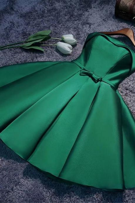Short Prom Dresses 2018 Strapless Vintage Green Dress For Homecoming Party Mini Gowns
