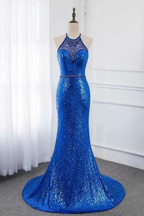 New 2019 Luxury Evening Dress Pageant Dresses V-neck Beading Fashion Evening Gown Competition Gown Backless
