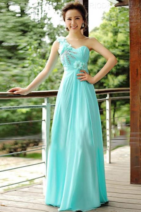 2019 long elegant blue prom dresses, Luxury long beaded prom dresses,one shoulder crystal evening dresses , sexy formal prom dresses,dresses party evening,sexy evening gowns,formal dresses evening,2015 new arrival formal dresses,elegant long evening dresses