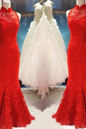 Prom Dress,Red Prom Dress,Mermaid Lace Prom Dresses,Custom Made Prom Dresses,Long Elegant Prom Dress, Sexy Prom Dress, Long Prom Dresses,2016 Prom Dresses