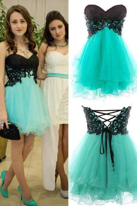 2016 Short Organza Prom Dress A Line Beaded Evening Dresses Party Dresses Robe De Soiree Formal Gowns