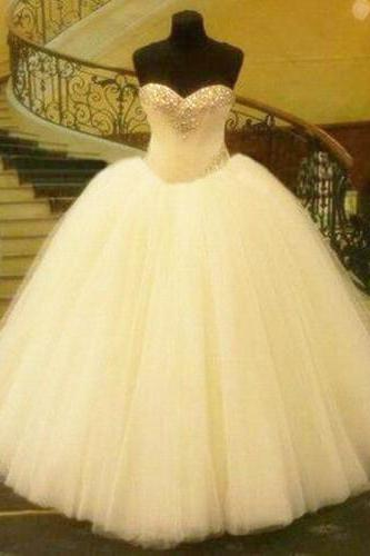 Wedding Dress, Wedding Dresses,ball gown wedding dress, white wedding dress, tulle wedding dresses