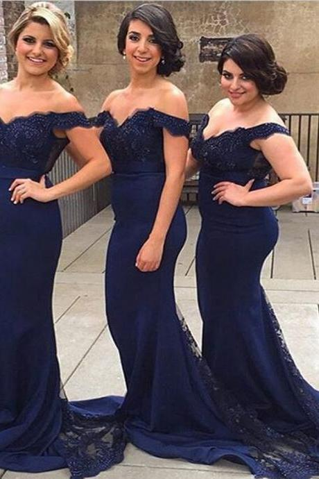 Bridesmaids Dresses,Prom Dress,Long Elegant Prom Dress,Navy Blue Bridesmaids Dresses,Navy Blue Prom Dresses,Custom Made Prom Dresses,Chiffon Prom Dress, Long Prom Dress,2016 Prom Dresses