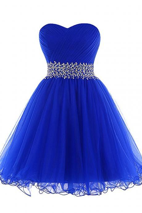 Prom Dress,Homecoming Dresses, Cocktail Dresses,Graduation Dresses, Organza Prom Dress,Royal Blue Prom Dress,Short Prom Dresses,Custom Made Prom Dresses,Sexy Prom Dress,2016 Prom Dresses