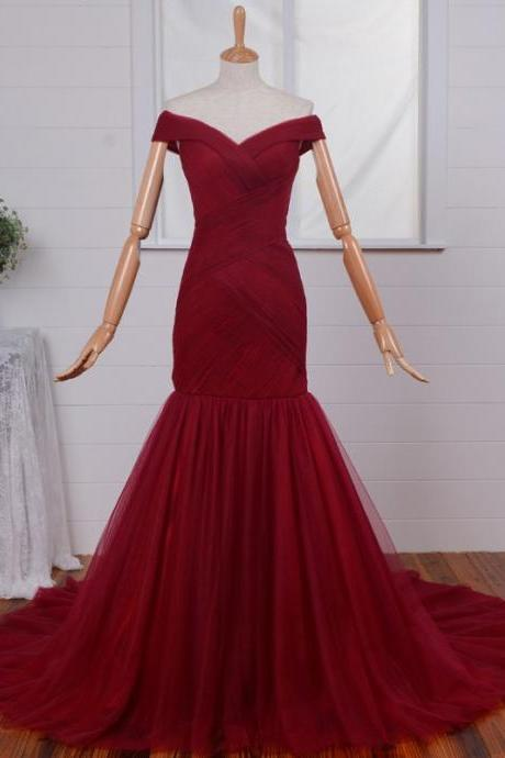 2016 Burgundy Mermaid Bridesmaid Dress,Floor Length V Neck Bridesmaid Dresses,Elegant Long Cheap Prom Dresses Party Evening Gown