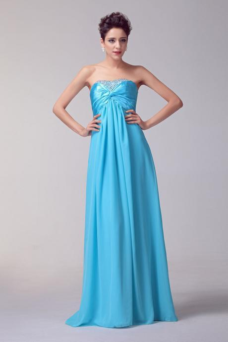 Sexy Long Blue Prom Dresses Sexy Lace-Up Evening Dresses 2016 Real Photo Women Party Dresses Formal Gowns