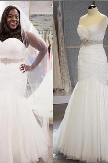 Plus Size Wedding Dresses,Lace Up Wedding Dresses,2016 Wedding Dresses,Mermaid Wedding Dresses,Sexy Wedding Dresses,Chapel Train Wedding Dresses,Bridal Gown