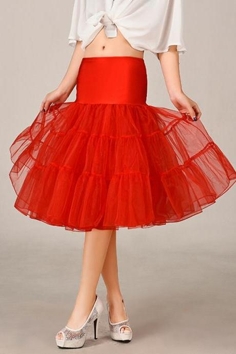 Red New Short A Line Petticoat Crinoline Underskirt Tutu Skirts Dance Wedding Dress Skirt Slips