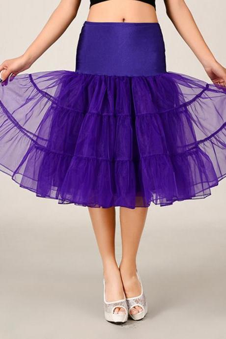 2016 Purple Petticoat Summer Dress Short A Line Crinoline Underskirt Tutu Skirts Wedding Dress Skirt A Line Skirts