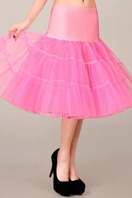2016 Fashion Sexy Pink Wedding Petticoat Summer Dress Mini A Line Skirts Crinoline Underskirt Tutu Skirts Petticoats For Wedding Dress