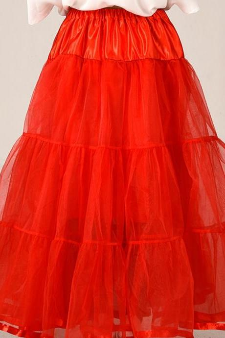 2016 Red Wedding Petticoat Summer Dress Long A Line Crinoline Underskirt Blue Petticoats For Prom Dresses Tutu Skirts