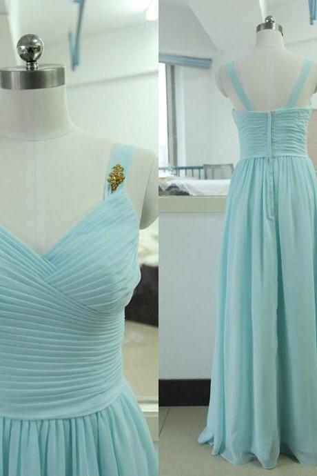 Evening Dresses 2016, Light Blue Evening Dresses, Chiffon Evening Dresses,Long Evening Dresses,Evening Gowns,Zipper Evening Dress, Red Carpet Dresses 2016,Long Prom Dresses, Formal Gowns,Party Dresses