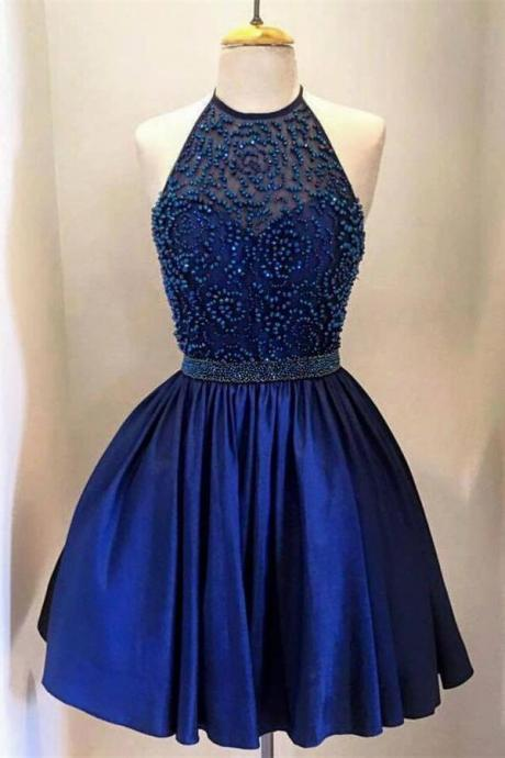 Blue Short Prom Dress, Short Prom Dresses,Short Dress,2016 Prom Dresses,Vintage Prom Dresses, Party Dresses, Homecoming Dresses