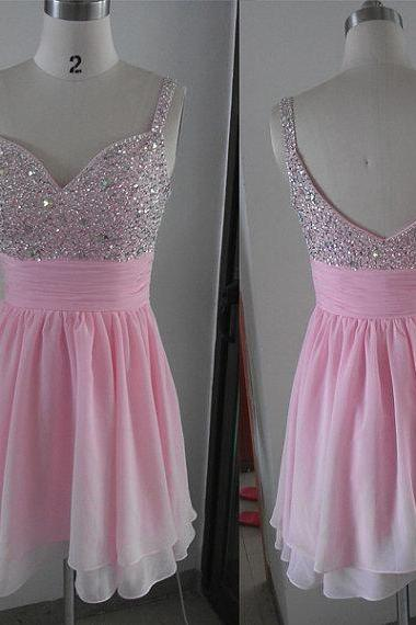 Pink Short Prom Dress, Short Prom Dresses,Short Dress,2016 Prom Dresses,Vintage Prom Dresses, Party Dresses, Homecoming Dresses