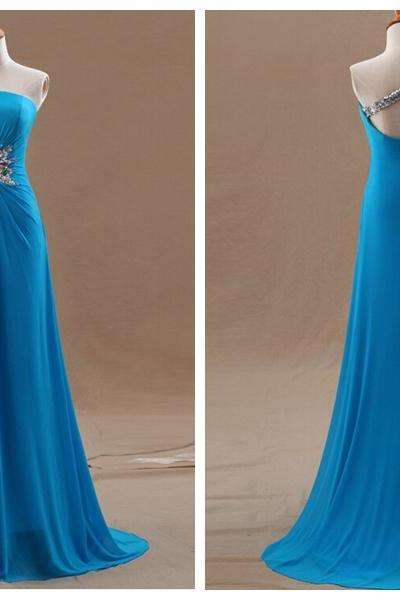 Prom Dress,Blue Prom Dress,Sexy Prom dresses,Chiffon Prom Dresses,Custom Made Prom Dress,Long Prom Dresses,2016 Prom Dresses,Prom Dresses