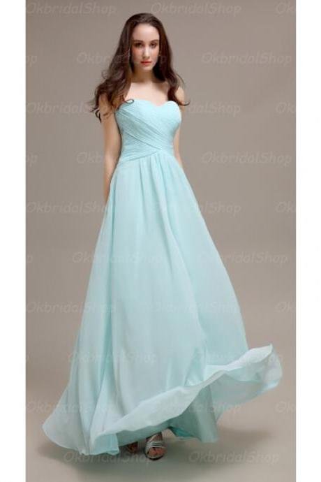 Elegant Sweetheart Floor Length Light Blue Bridesmaid Dresses, Bridesmaid Dresses, Wedding Party dresses